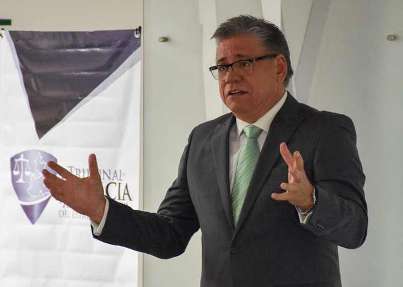 """Héctor Samuel Torres Ulloa, magistrado presidente del Tribunal de Justicia Administrativa del Estado de Sinaloa, ofrece cátedra en la UDLAP """"Tribunal de Justicia Administrativa, Sistema Nacional Anticorrupción"""""""