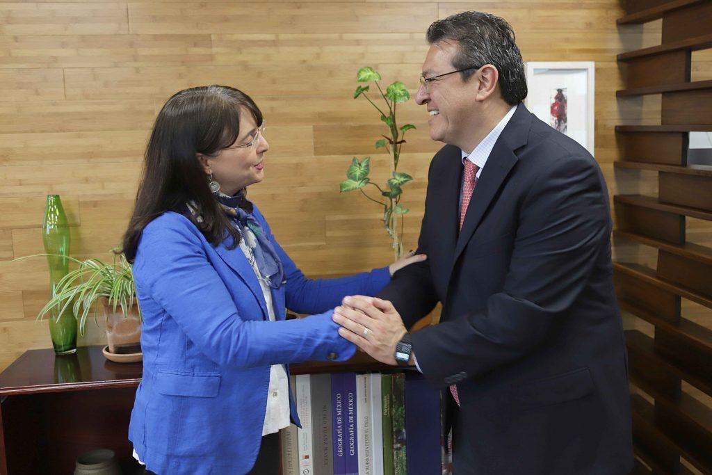 Se reúne Marco Mena con María Elena Álvarez-Buylla, directora del CONACYT