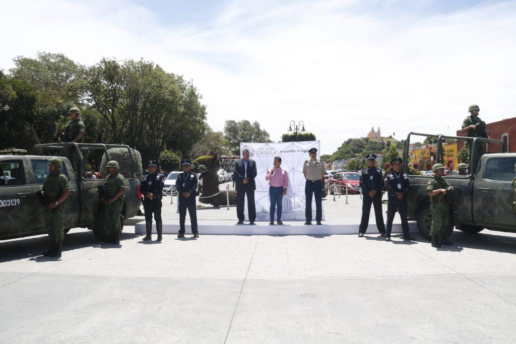 Refuerza gobierno de San Pedro Cholula  seguridad pública con apoyo de SEDENA