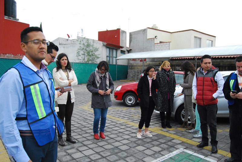Personal del Tribunal del Estado de Puebla participa en Macrosimulacro 2020