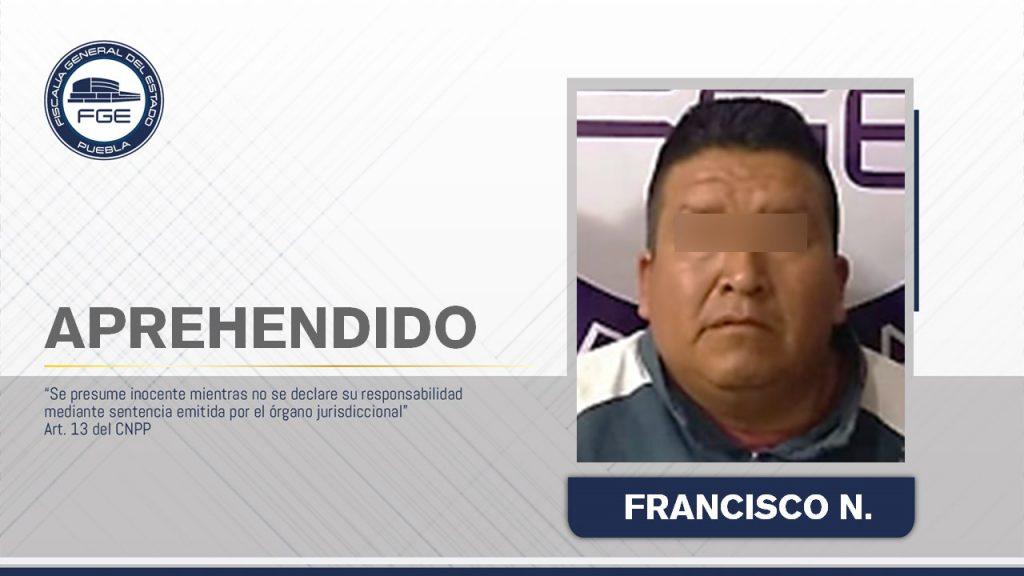 Fiscalía Puebla cumplió aprehensión de presunto feminicida.