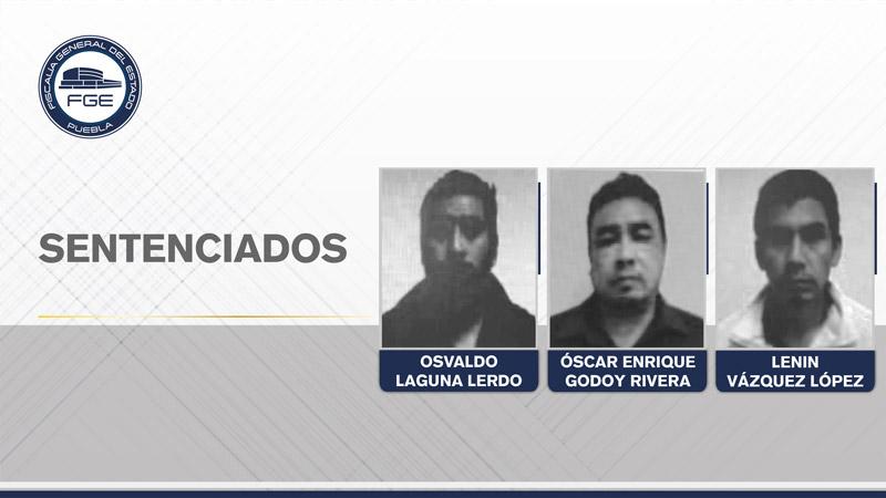 FGE Puebla obtuvo 150 años de prisión contra tres secuestradores.