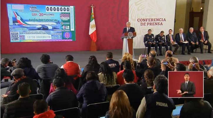 Se rifará el avión presidencial, confirma López Obrador